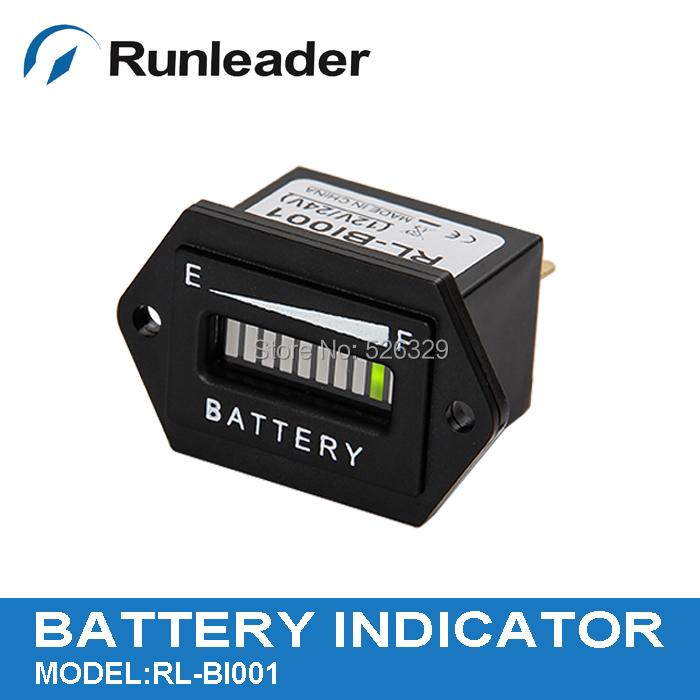 Lead acid storage battery Free Shipping! LED Battery Indicator 12&24V(China (Mainland))