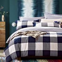 40S Cotton Bedding Sets Queen  Duvet Covers Set,lattice Printing activity Bed Set set linens bedclothes #CM4879