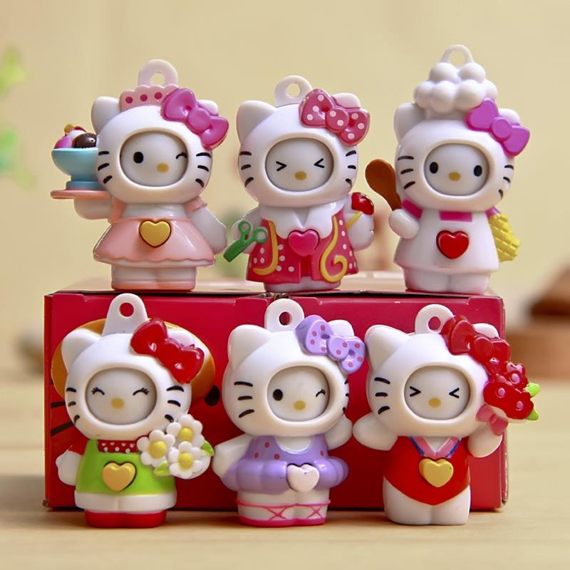 Hello Kitty Toys Set : Hot cakes pcs set hello kitty figures toys transform face