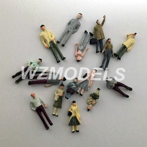 HIGH QUALITY Wholesale 1;300 HO N G scale painted model figure for architectural or model train layout(China (Mainland))