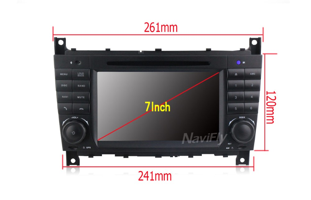 2G RAM Android6.0 Car Multimedia player for Benz C Class W203 2004-2007 C200 C230 C240 C320 C350 CLK W209 04-11 with free shppin