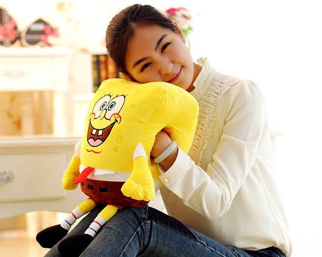 Super cute soft plush cartoon animal yellow spongebob hand warmer pillow,stuffed animal cushion,creative Christmas&birthday gift(China (Mainland))