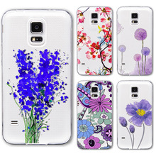 Buy S4 S5 Case Ultra Thin Soft Phone Cover Samsung Galaxy S4 i9500 Flowers Painted Pattern Transparent Soft Silicone Back Case for $1.41 in AliExpress store