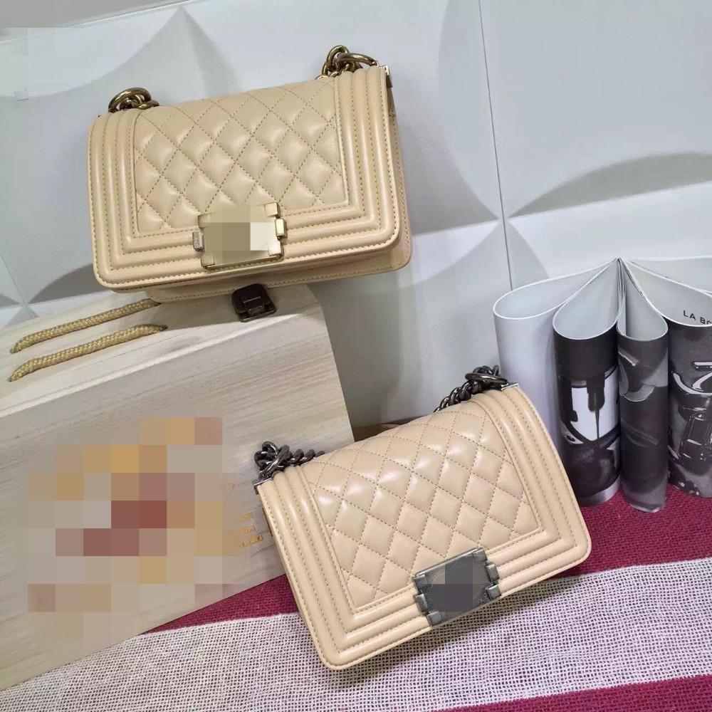 fashion classic Free shipping EMS Top Quality  Flap mini lambskin adorned with the original clasp flap bag boy handbag bag beige<br><br>Aliexpress