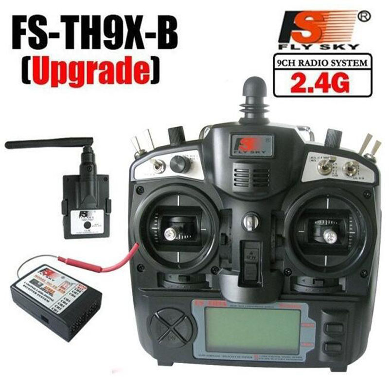 FlySky 2.4G 9CH Radio Set System transmitter FS TX TH9X FS-TH9X & RX FS-R8B receiver for rc helicopter quadcopter controller(China (Mainland))