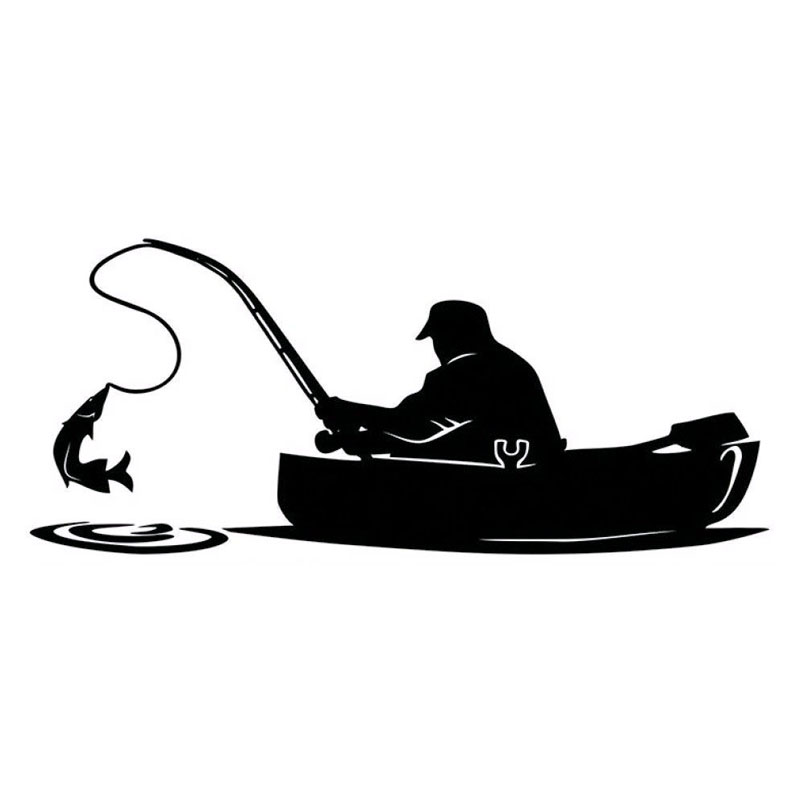 наклейка рыбалка для машина