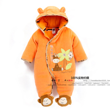 2015 new spring autumn winter European &American style girls &boys cute donkey animal rompers baby cotton-padded jumpsuit(China (Mainland))