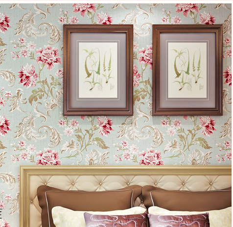 2014 Vintage country flowers wallpaper roll Pure paper living room bedding safa TV background restaurant wall - Beautiful landscape's store