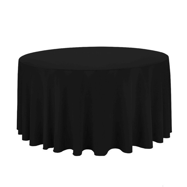10pcs 90'' polyester table clothes for weddings(China (Mainland))