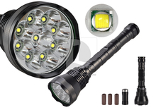 New 11000LM 9x CREE XM-L T6 LED Super Light Lamp Flashlight LED Taschenlampe 3 x26650 Batterie 014941(China (Mainland))