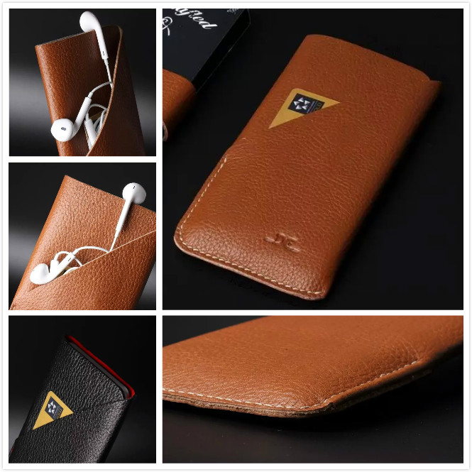 Top Quality Luxury Litchi genuine Leather pattern style Pouch Sleeve Case for iphone 6 / 6S plus 5.5 Phone sleeve case(China (Mainland))