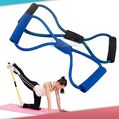 Resistance Training Bands Tube Workout Exercise for Yoga 8 Type Fashion Body Building Fitness Equipment Tool 04W3(China (Mainland))