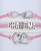 3pcs handmade bracelet Infinity  Braceletlove mom  and grandma heart -  Wrap Bracelet - Custom  mini order 10$  4068(China (Mainland))