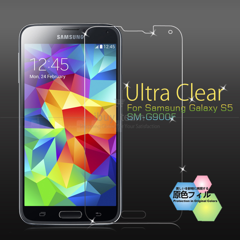 Ultra Clear Screen Protector Samsung Galaxy S5 SM-G900F SM-G900H Cell Phone Quality Guard Protective Film - Magic family accessories shop store