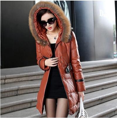 New winter coat thicker warm Slim long sections Nagymaros collar women down padded jacket plus size women winter parkas DM1271