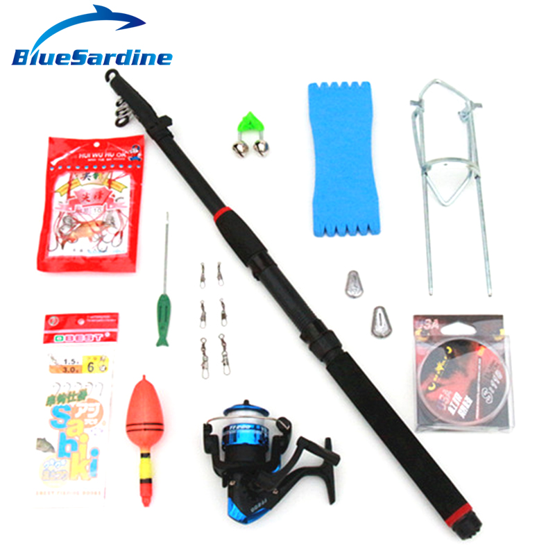 Bluesardine telescopic fishing rod combo 13 accessories for 13 fishing combo