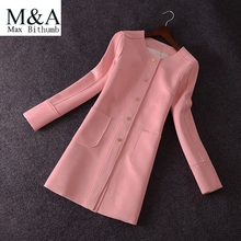 Trench Coat For Women Suede Coat Fashion Casual O-neck Long Slim Leather Suede Trench Coat Women Outerwear Ladies Trench Coat(China (Mainland))