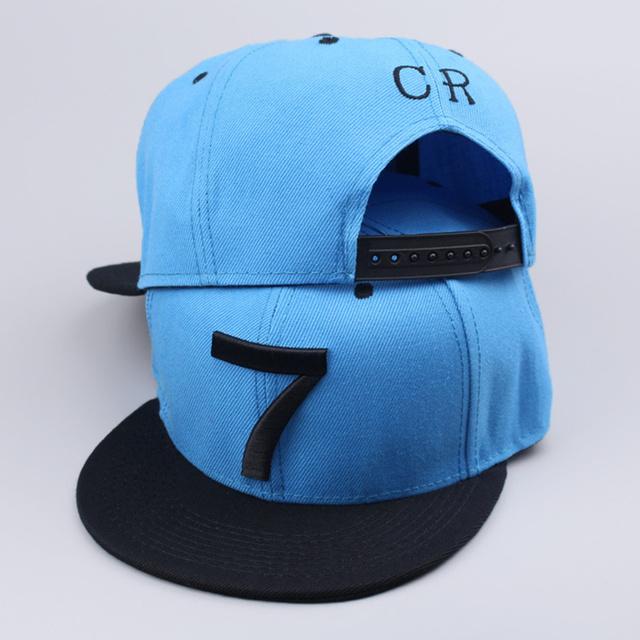 2016 новые роналду CR7 синий бейсболки хип-хоп спорт Snapback унисекс плоским краев ...