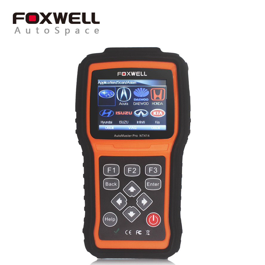 Foxwell NT414 Transmission Scanner + ABS + SRS Airbag + Engine Multi Brand Car Diagnosis Tool Scaner with EPB Oil Light Reset(China (Mainland))