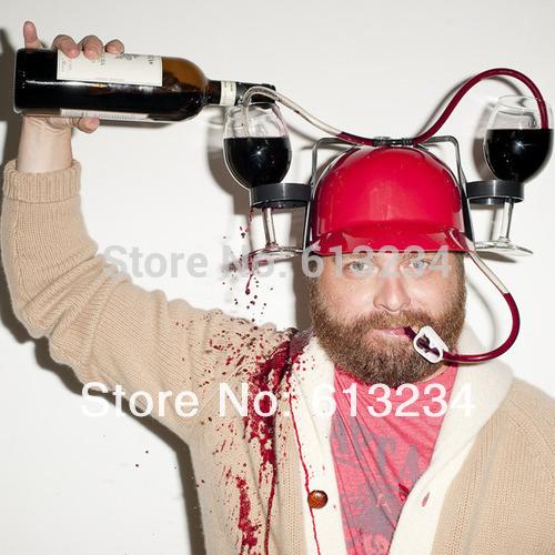 Free Shipping 1Piece Beer Can Holder Helmet Drinking Helmet Drinking Hat
