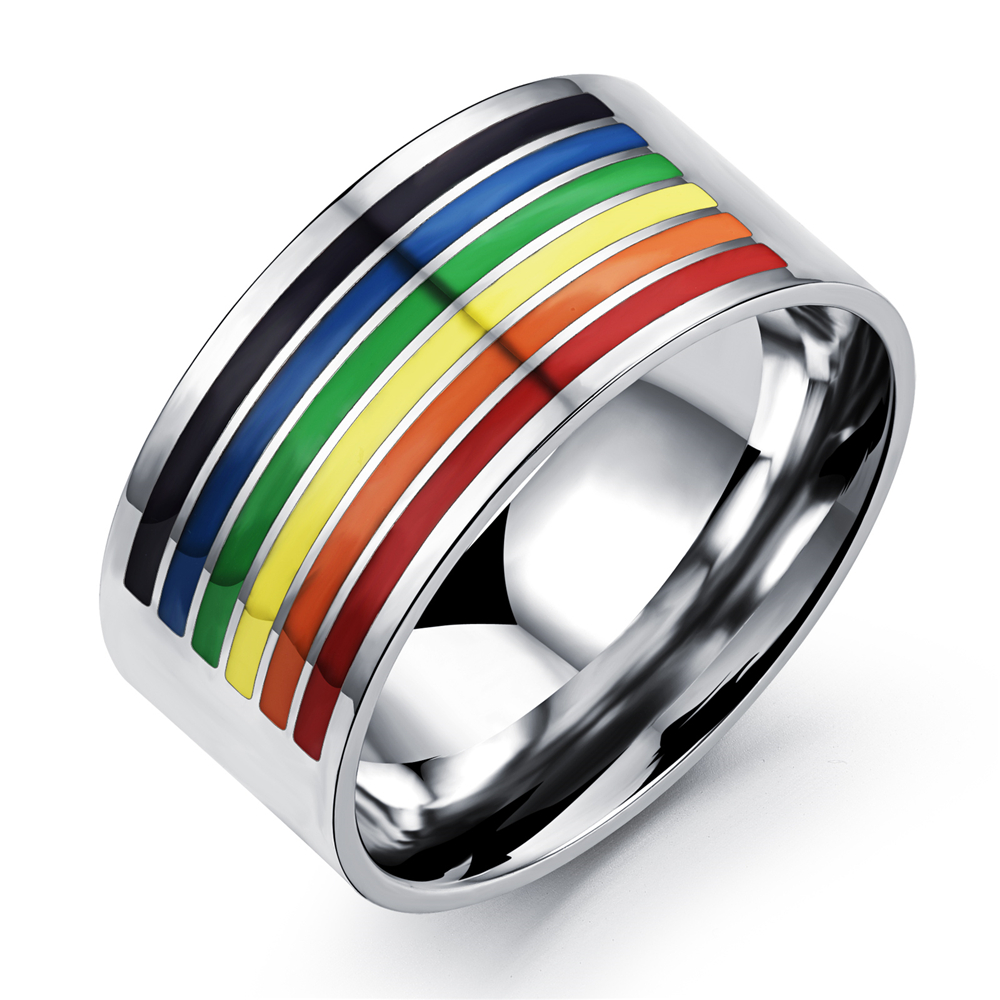rainbow ring lgbt pride miniature - photo #11