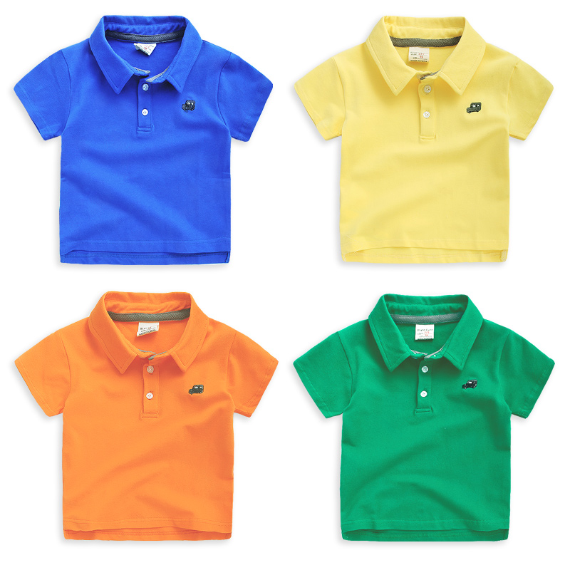 Summer t shirts 2 7y boys fashion kids polo shirt classic for Toddler boys polo shirts