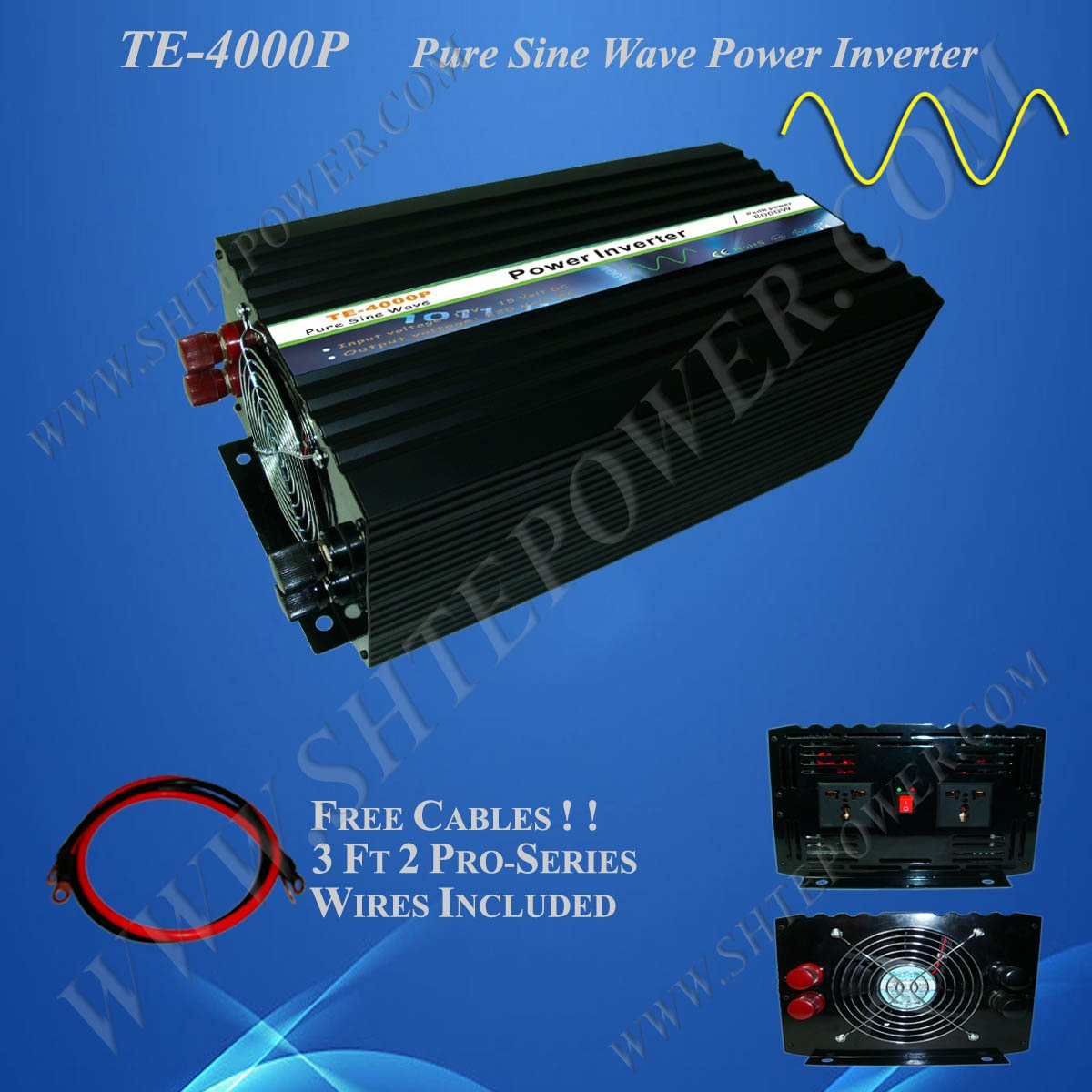 High frequency power inverter 12v 120v 4000w pure sine wave(China (Mainland))