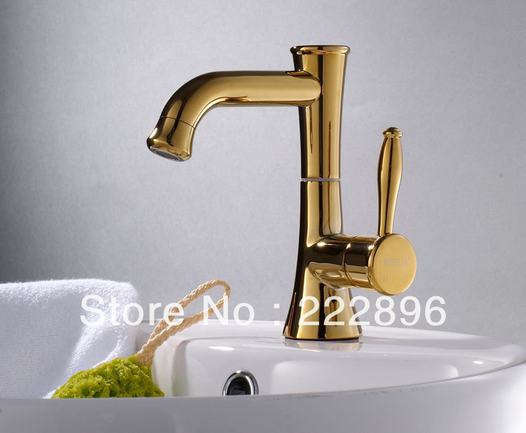 Free shipping brass copper gold bahtroom faucet vanity water tap bathroom accessories decorative - Decorative bathroom faucets ...