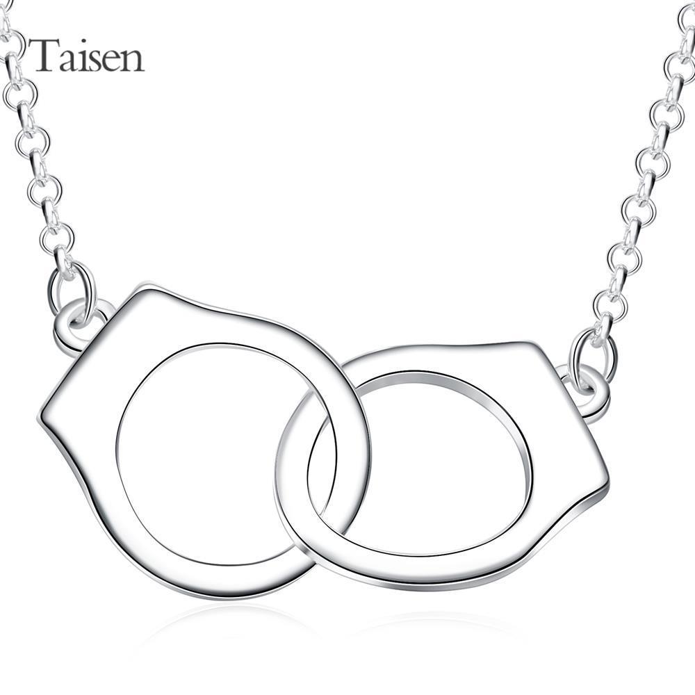 news 2016 bijuteria Wholesale High Quality New romantic Fashion Jewelry silver Hot geometric style sale 18 inches chain(China (Mainland))