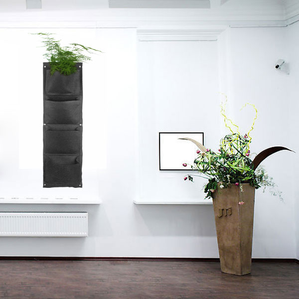 ... Hanging 4 Pockets Large plants wall flower pot Holder Planter garden