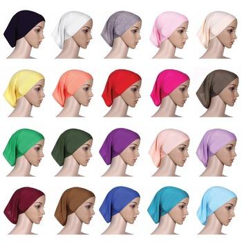 2015 Real New Women Muslim Instant Headscarf Cross Pure Hijab ...