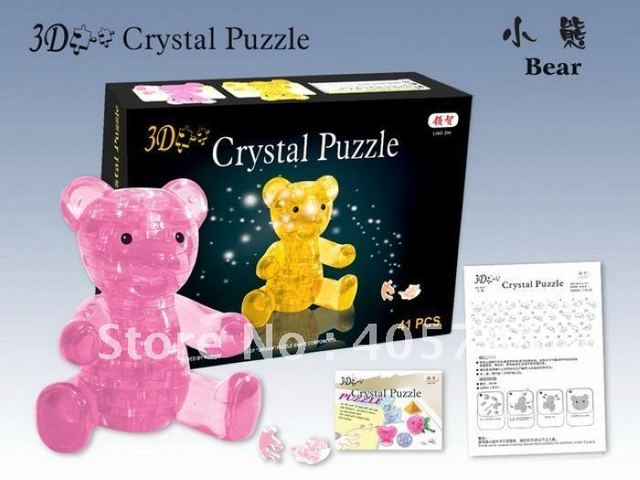 DIY TOY 3D Crystal Puzzle (bear) Educational toy,Wholesale and Retail
