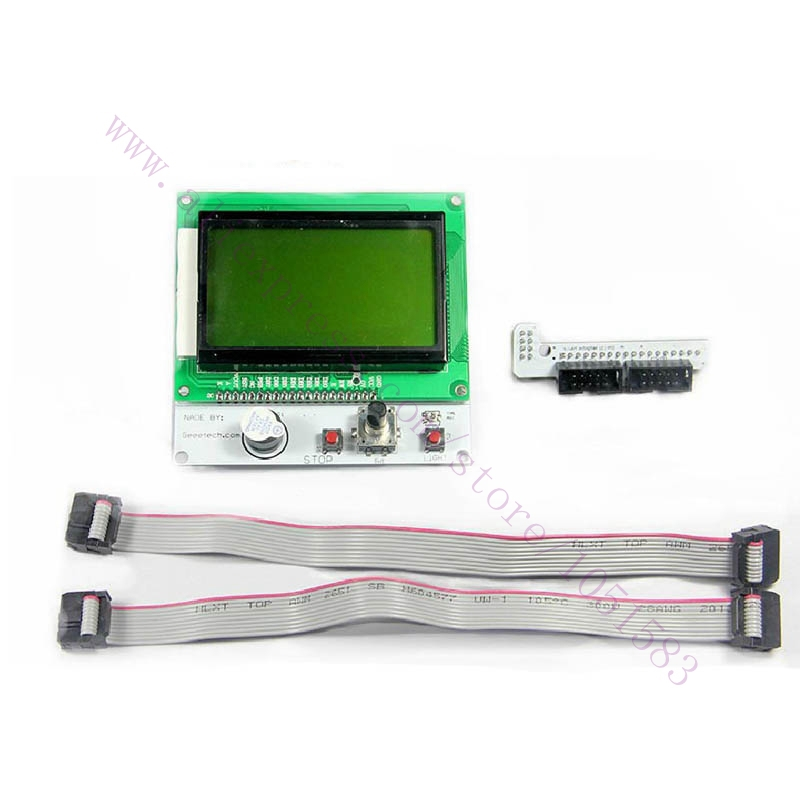 RAMPS1.4 LCD12864 Graphic Matrix Display Module Intelligent Controller  For 3d printer parts /Accessories Free Shipping<br><br>Aliexpress