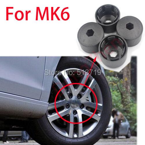 1X колеса обод покрышка завинчивающейся крышкой для VW Golf 6 MK6 автоаксессуары стайлинга автомобилей парковка