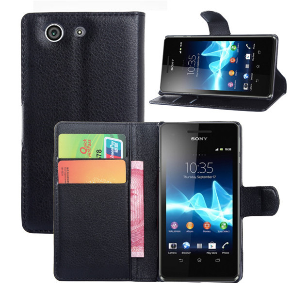 Hot/lot Luxury wallet Leather Case For Sony Xperia Z3 Compact Z3 mini M55W D5803 D5833 Leather Case With Credit Card Holder