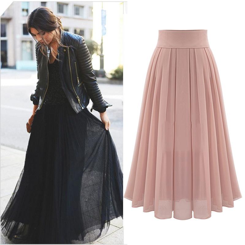 Lastest  Long Skirt Women39s Fashion A Line Floor Length Vintage Midi Skirts