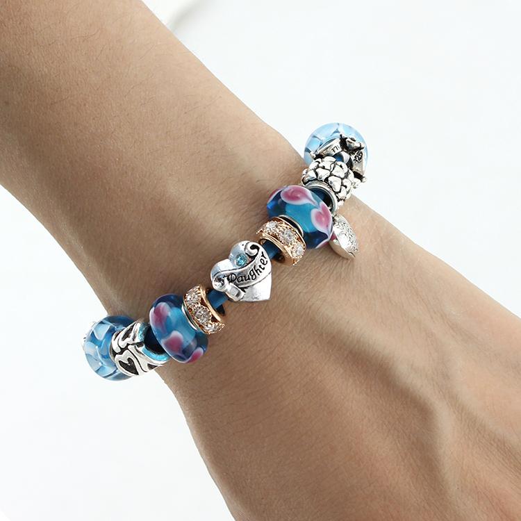 Glass Charm Bracelets Glass Beads Charm Bracelet