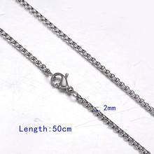 FUNIQUE acier inoxydable ton argent torsadé corde Mix chaîne collier pour la fabrication de bijoux hommes femmes longue chaîne collier bijoux(China)