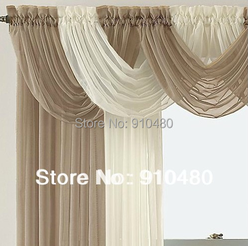 beautiful sheer curtain valance waterfall swag window Window Treatment W 60 cm * H 50 - LOVE & LIFE STORE store