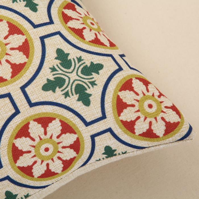 Cushion Creative Geometric Linern Cotton Square 45cm Home Decor Sofa Car Seat Decorative Throw Pillow Capa