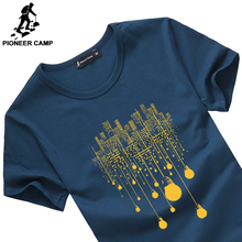 Pioneer Camp 2016 new fashion summer t shirt men o-neck cotton comfortable man t-shirt fitness tshirt homme men clothing 522056