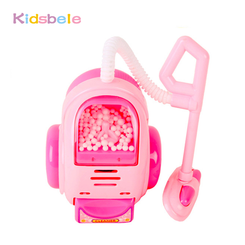 Toys For Children Pretend Play Miniature Simulation House Appliance Pink Vacuum Cleaner Plastic Electronic Classic Kids Xmas Toy(China (Mainland))