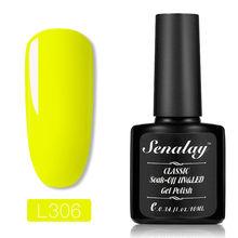 6 couleurs 10ml Gel fluorescent néon vernis à ongles pur Gel de LED UV vernis longue durée vernis à ongles Art # a(China)