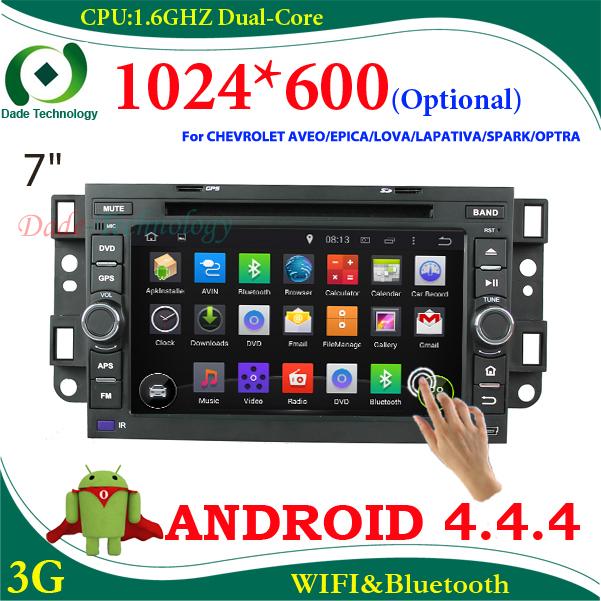 2 din car dvd player android 4.4 for Chevrolet AVEO EPICA LOVA CAPATIVA SPARK OPTRA 2din car multimedia car gps radio car stereo(China (Mainland))