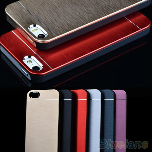 Luxury Metal Brushed Aluminum Shell Back Case Cover For Apple iPhone 4 4S 5 5S 2JF3(China (Mainland))