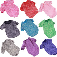 Buy 9 Color Warm Dog Clothes Small Dog Autumn/Winter Pet Clothing Solid Teddy Puppy Sweater Dogs Coat Costume Apparel XS-XXL for $4.45 in AliExpress store