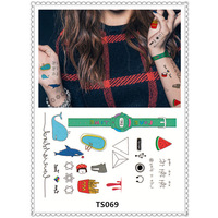 Japan Harajuku pattern tattoo sticker body art tattoo flash disposable nail fake tattoos, temporary tattoos Halloween