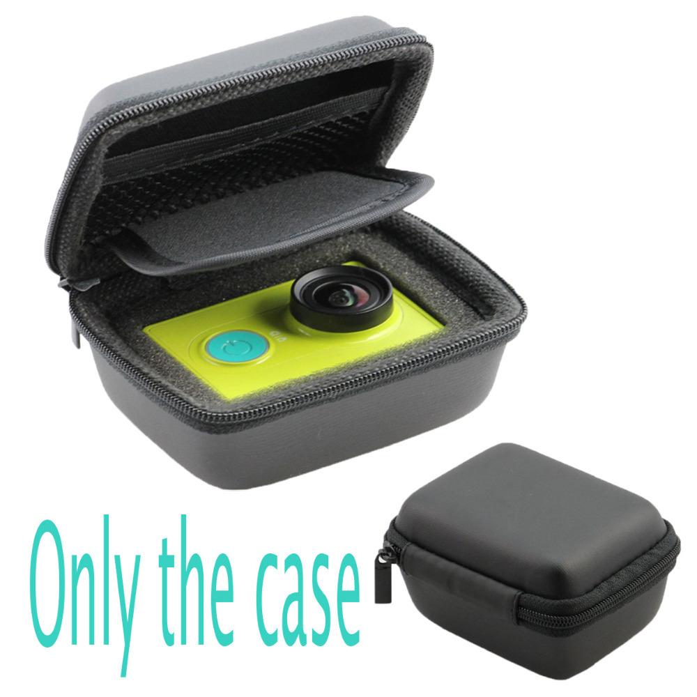 Портативный малый размер черный чехол для xiaomi yi сумка для фотокамеры чехол для xiaoyi водонепроницаемый хранение камеры сумка для xiaomi yi аксессуары