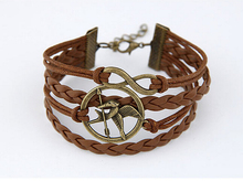 fashion simple Multilayer weave leather bangles bracelets men women cool Casual Style jewelry - HD Forever store