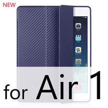 IPad aire caso de iPad 2 aire caso 2018 de 9,7 Funda trasera de silicona suave, Slim de cuero de la Pu cubierta inteligente para iPad 2018 6th generación caso(China)